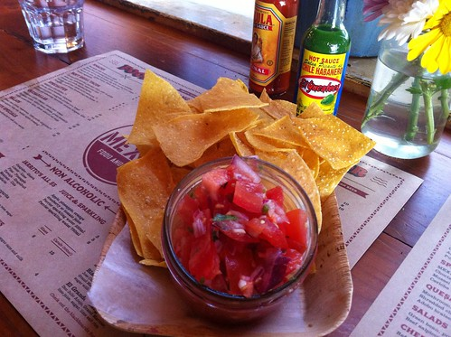corn chips and red salsa
