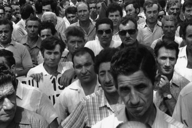 Manifestazione edili - Roma, 1972