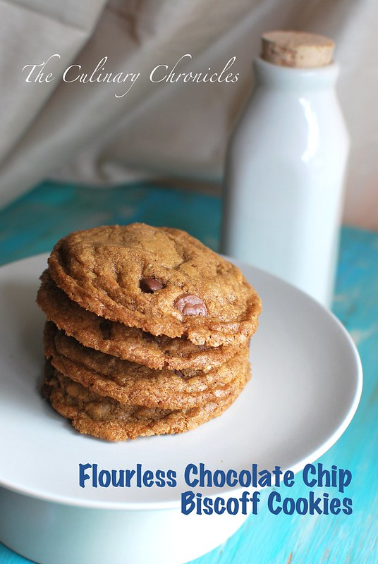 Flourless Chocolate Chip Biscoff Cookies