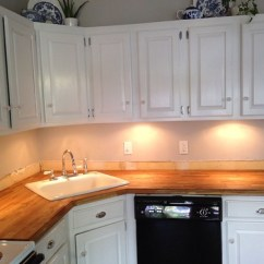 Farm Sink For Kitchen Refrigerator Cabinets Stick A Fork In Them: The Ikea Butcher Block Counters Are ...