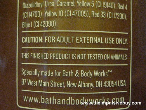 Bath & Body Works Temptations Iced Tea Twist Label