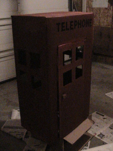 telephone booth from box
