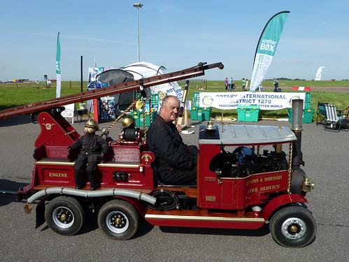 Steam Fire Engine RAF Scampton Families Day Lincolnshire