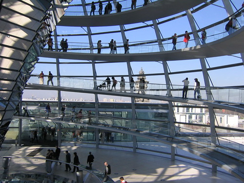 in the dome of the Reichstag