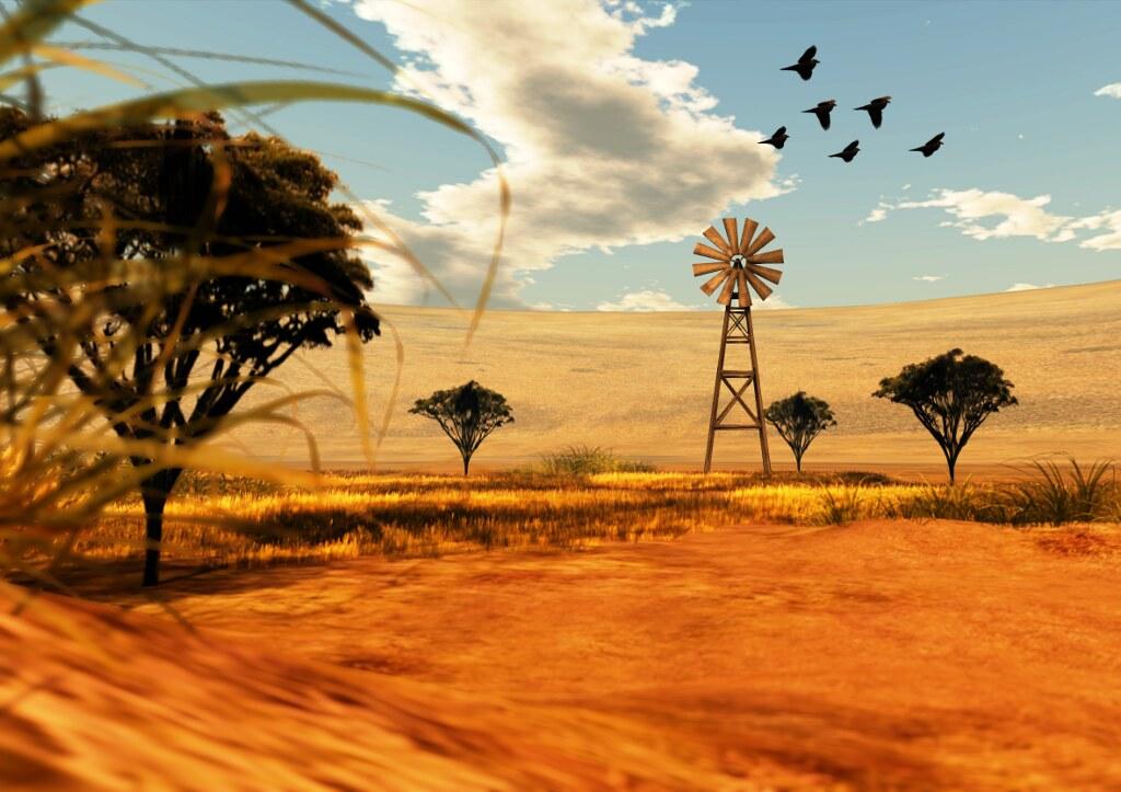 Noweeta Grassland: the windmill (by Ricco Saenz)