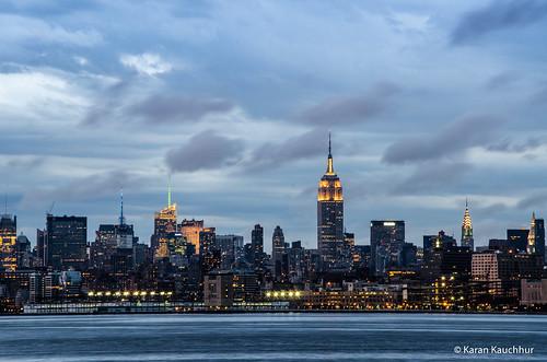 Manhattan Skyline as seen from Liberty SP