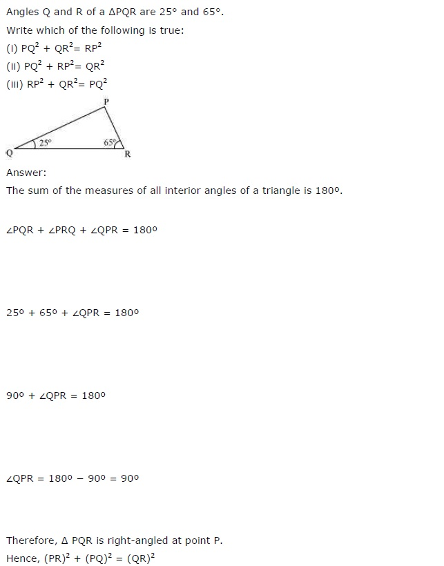 NCERT Solutions for Class 7 Maths Chapter 6 The Triangle and its Properties Ex 6.5 1