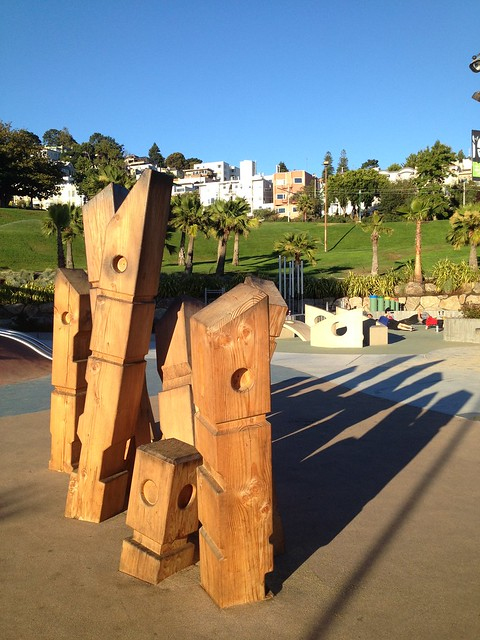 Wooden play sculpture, Dolores Park