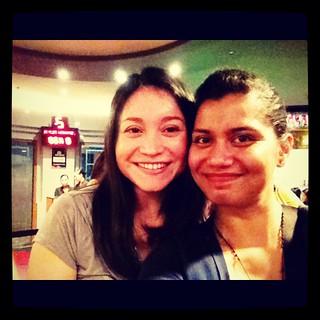 Con mi amiga Monica