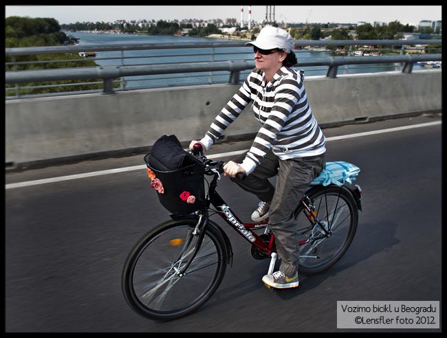 me, bike, Ada Bridge