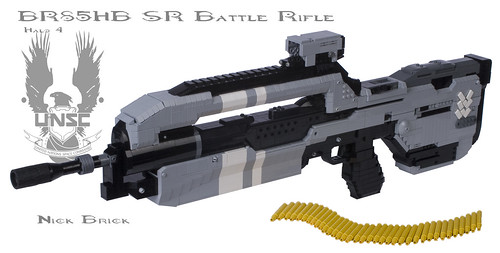 Halo 4 BR85HB SR Battle Rifle by Nick Brick