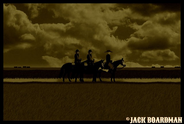 Hickok and the Derbys heading back to the Coldwater Ranch ©2012 Jack Boardman