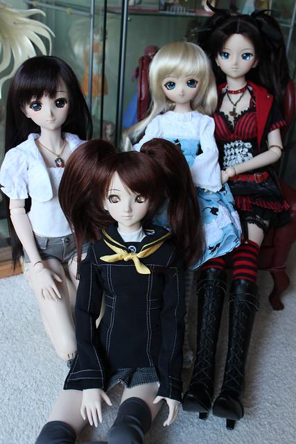 Serena, Rise, Médée and Rin