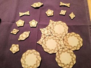 Lasercut Girih tiles