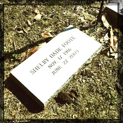 Shelby Foote headstone, Memphis, Tenn.