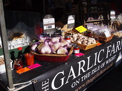 The Garlic Farm on the Isle of Wight. Venn Street Market, Clapham Common