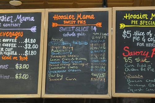 Hoosier Mama Pie menu