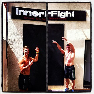 Welcome! Awesome set up down here with Ben #innerfight #smashlife #workout #training