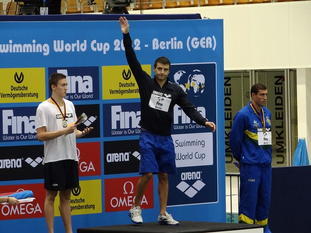 Stanislav Donets on top of the Berlin 2012 podium