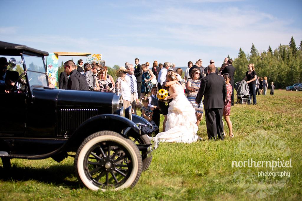 Janelle & Dan Wedding receiving line