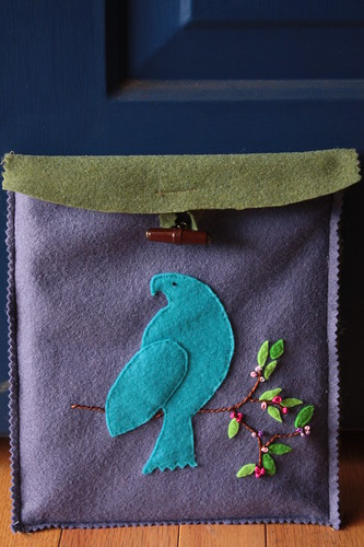 Finished! Felt iPad cover