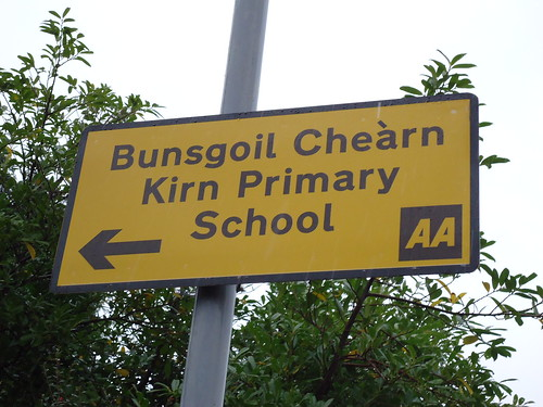 Bilingual sign, Cowal
