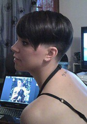 buzzed nape and side short