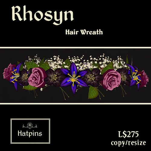 Rhosyn Hair Wreath - Bright Night - copy_mod