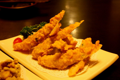 Fried shrimp cake at Du Xiao Yue