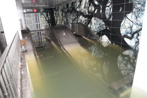 Escalator under Water @ South Ferry