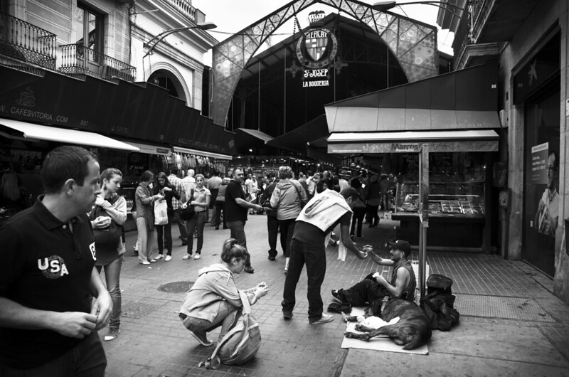 Mercado de La Boqueria, Barcelona.
