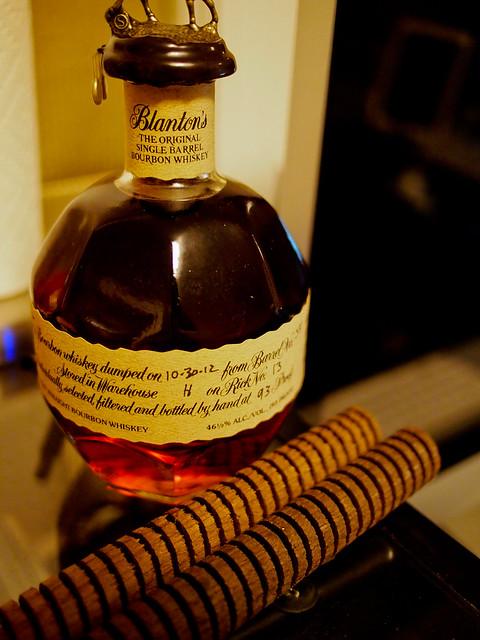 Blanton's Single Barrel Bourbon + Medium Charred Oak Spirals