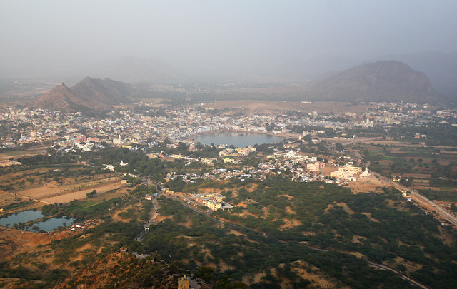 View of Pushkar from Savitri Temple