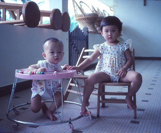1982 - Leon, me, chair