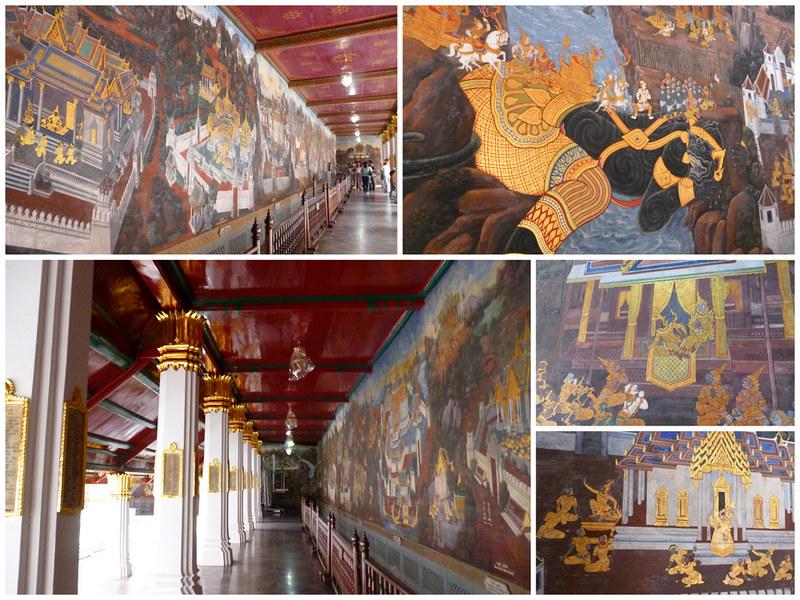 Ramayana murals at Bangkok's Grand Palace
