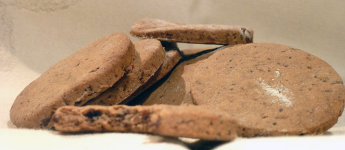 Cookies with chestnut flour, chocolate and raisins - Biscotti alla farina di castagne, cioccolato e uvetta