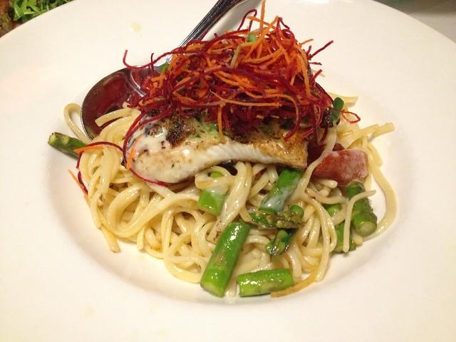 Pan seared crusted ono - Sansei Seafood Restaurant