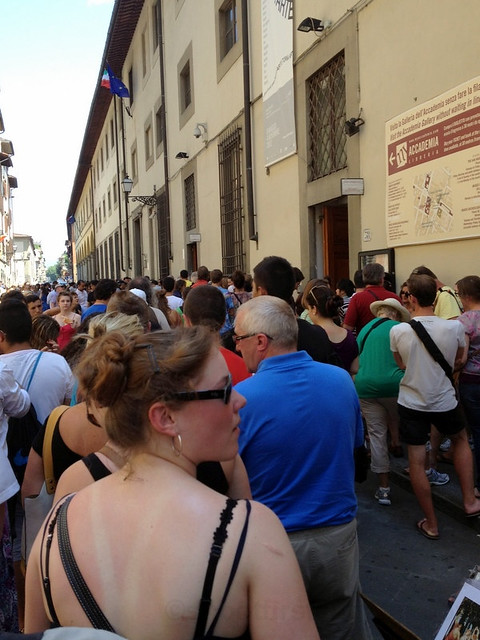lines at the Accademia