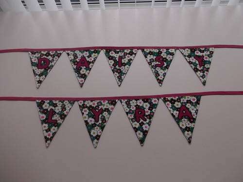 Lyra and Daisy bunting