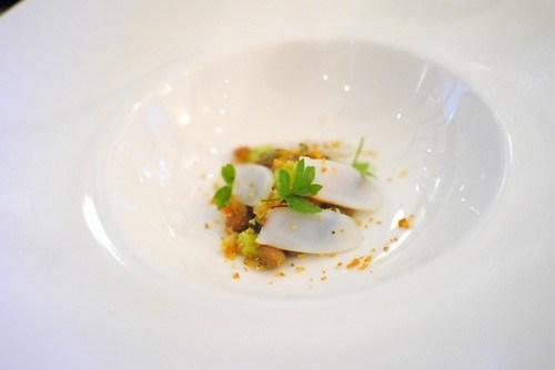 beans, cuttlefish, avocado, epazote (Kostow)