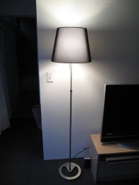 Ikea Alang Floor Lamp Nickel Plated Gray  Nazarm.com