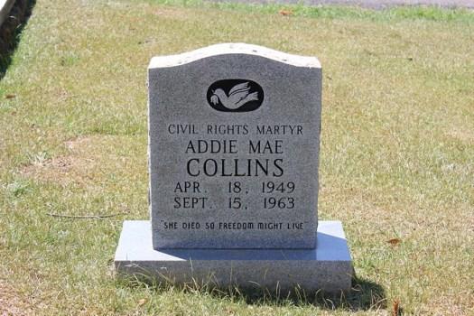 Addie Mae Collins, Greenwood Cemetery
