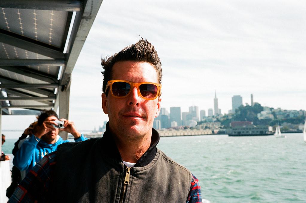 Josh on the way to Alcatraz