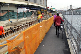 Narrow Bike Lane During Construction