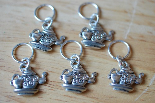 Tea Time Stitch Marker Set