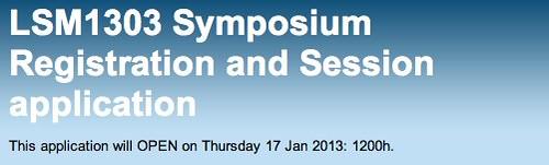 LSM1303 Symposium Registration and Session application