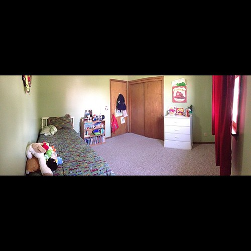 LB's room is clean. #panorama #nofilter #firefighter #firetruck