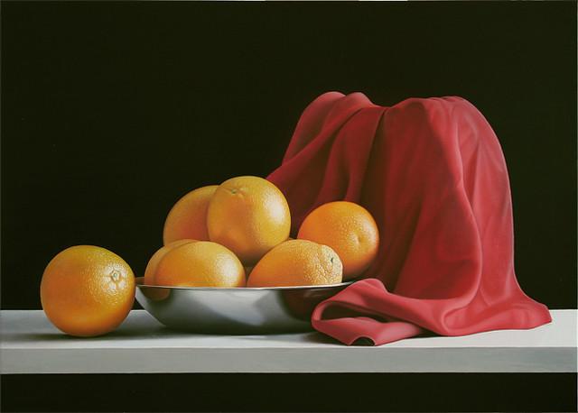 Sette arance in rosso