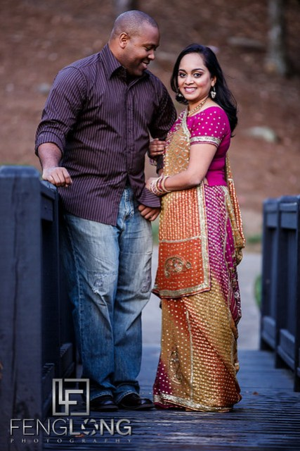 Janella & Chuck's Engagement Session | Three Chimneys Farm | Atlanta Indian Multicultural Wedding Photographer