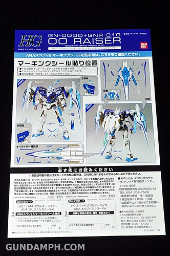 ANA 00 Raiser Gundam HG 1-144 G30th Limited Kit OOTB Unboxing Review (9)